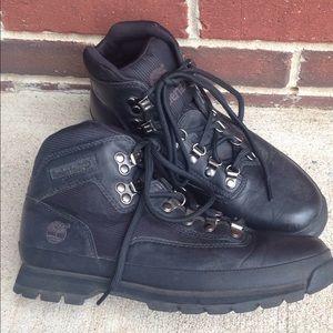 Black Timberland Hiking Boots Size 9